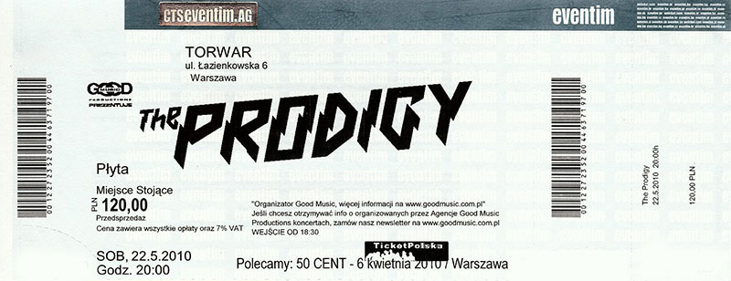 The Prodigy - Ticket